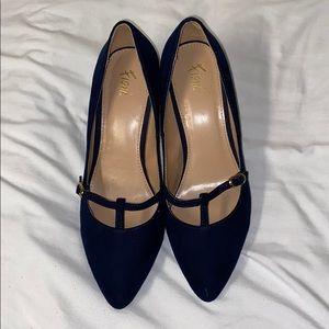 Navy Short Heels WORN ONCE